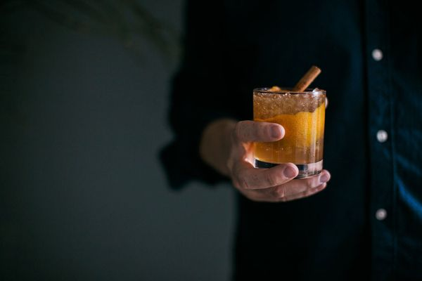 1AppleJack Old Fashion, Signature  Holiday Drink, Dream Events & Catering, Jen & Chris Creed Photo