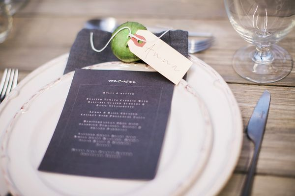 Holiday Place Card Ideas Dream Events & Catering, Jen& Chris Creed