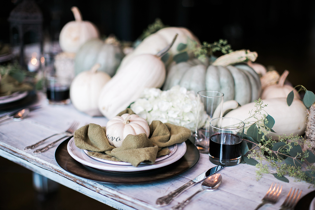 Pumpkin Placecard, Dream Events & Catering, Jen & Chris Creed