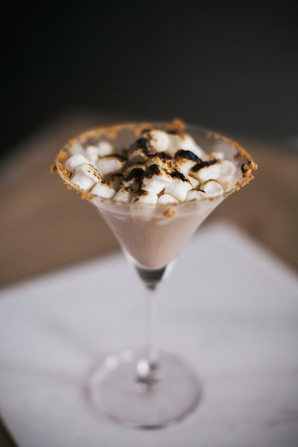 Smore MartiniSignature Holiday Drink, Dream Events & Catering, Jen & Chris Creed Photo (1)