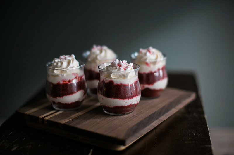 peppermint red velvet shooter