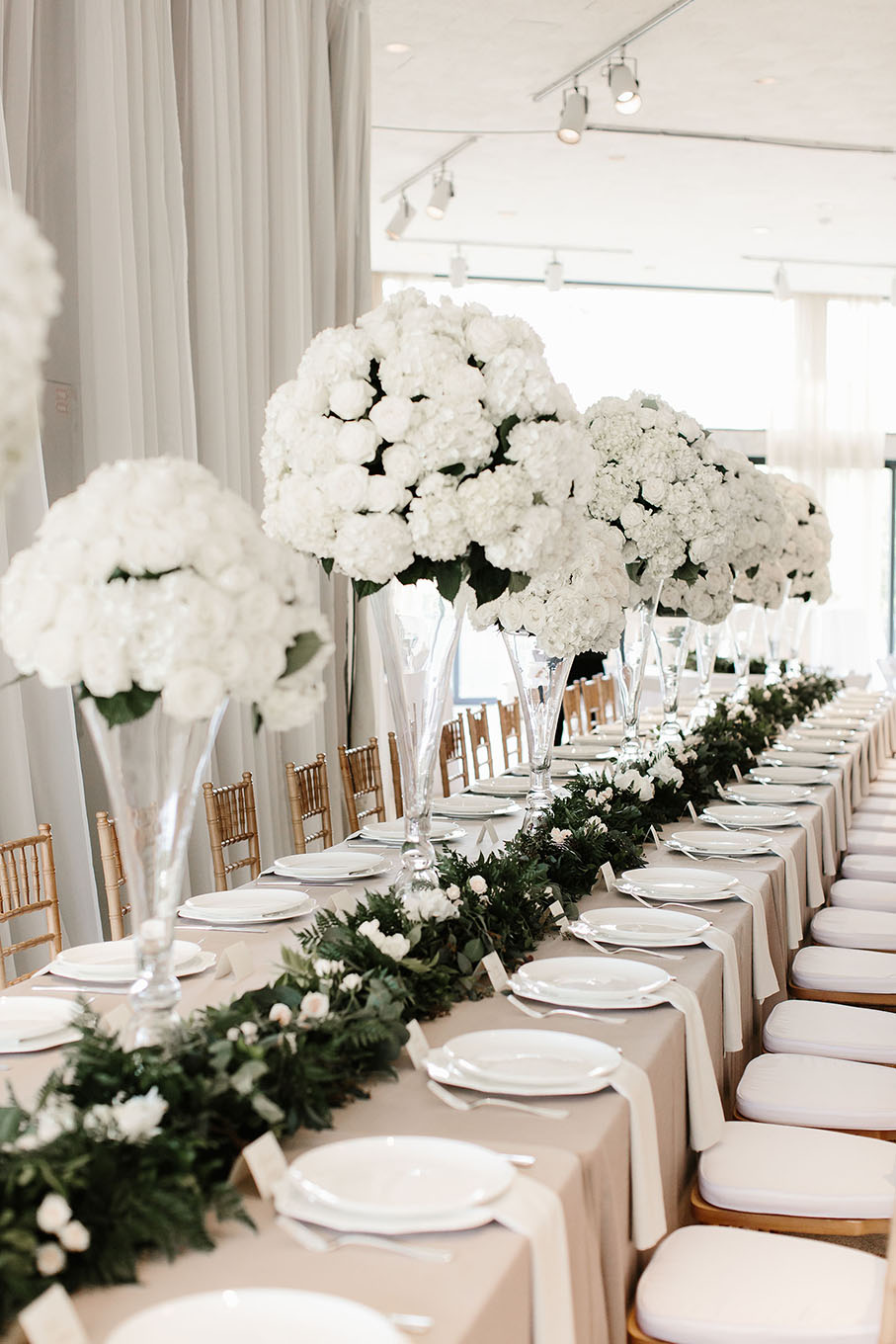 Elegant Spring Wedding Reception Head Table