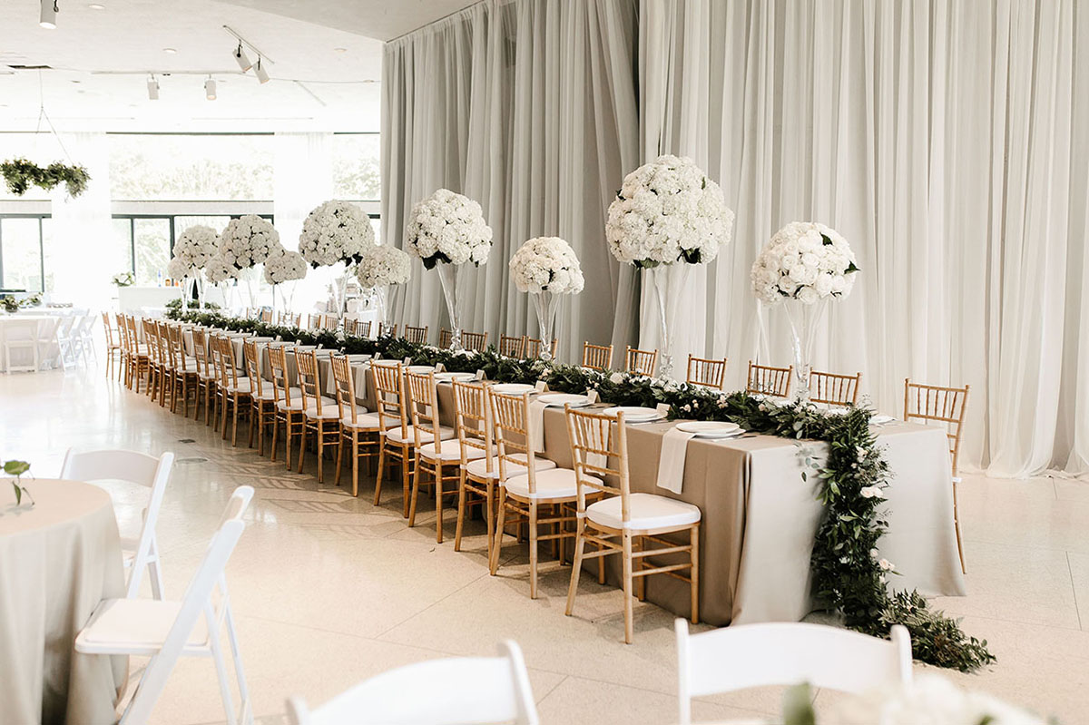 Spring Wedding Reception Head Table