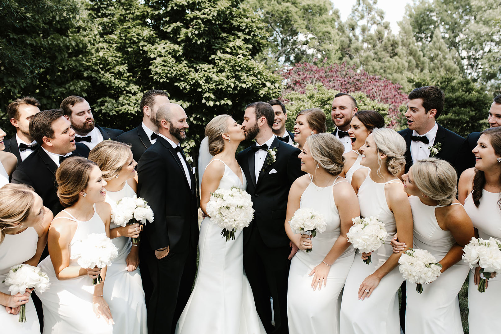 Elegant Spring Wedding Party