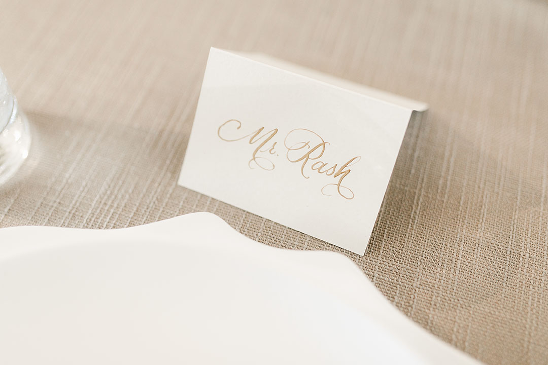 Calligraphed Place Card
