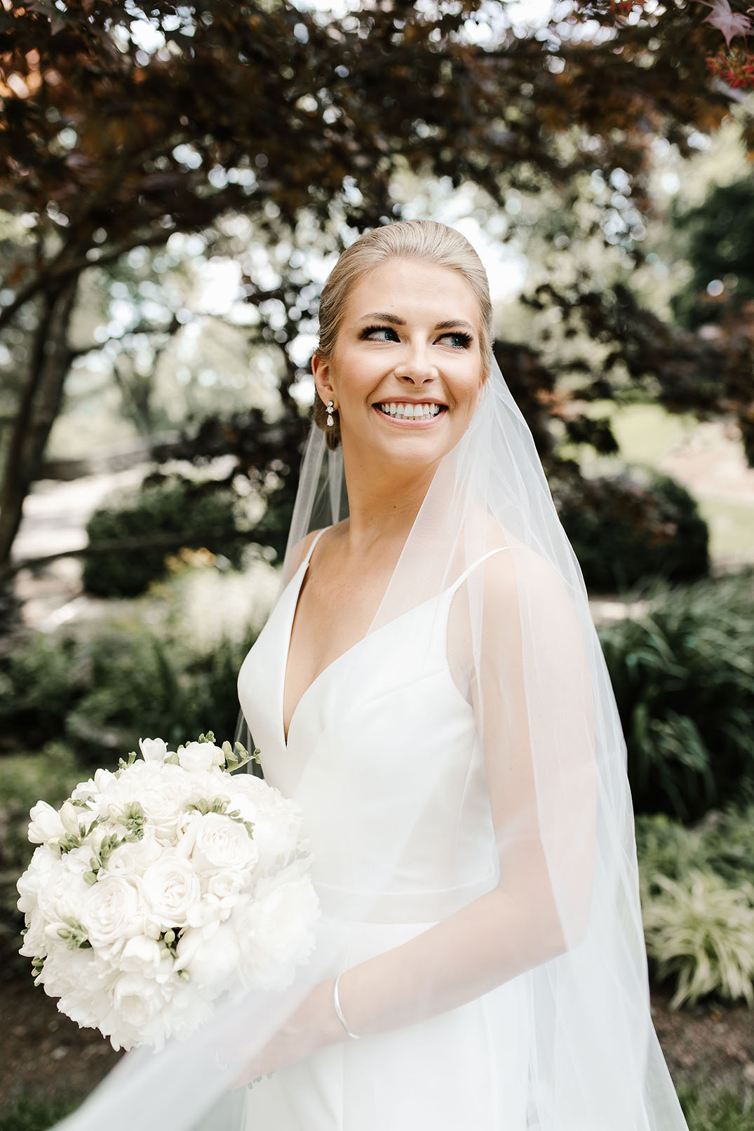 Emily Holding Bouquet