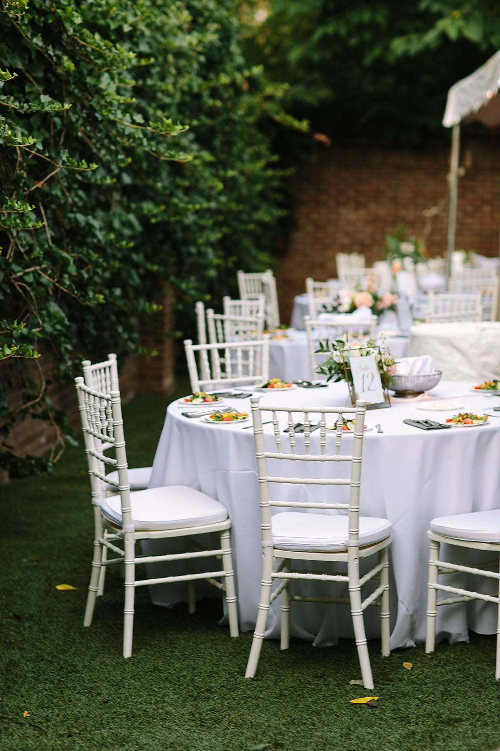 White Reception Table