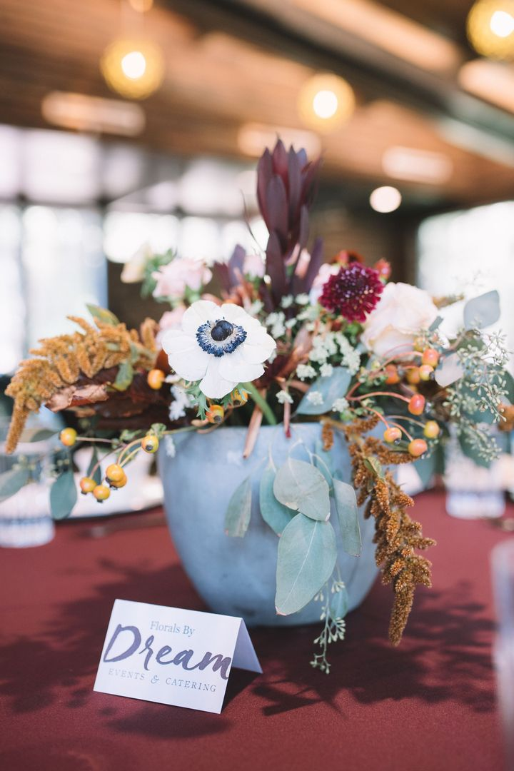 Whimsical Winter Floral Centerpiece