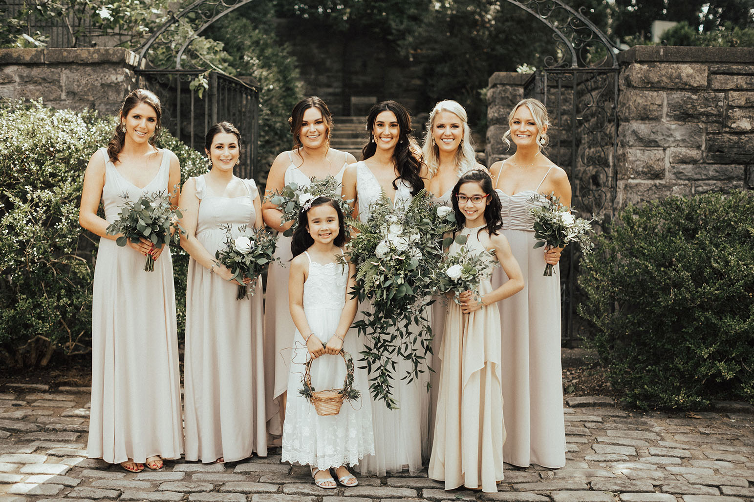 Madeline with Bridesmaids