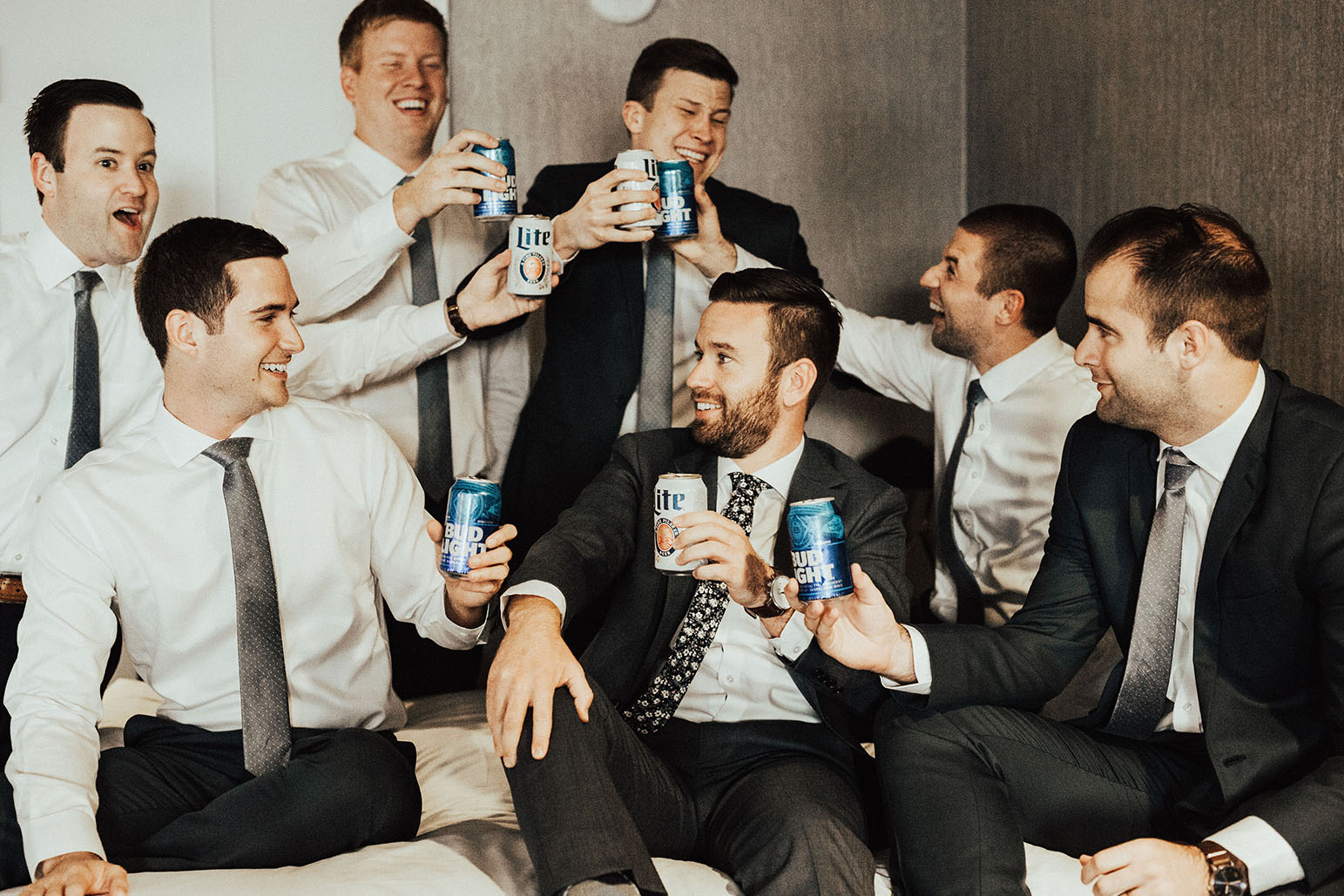 Russ Drinking with Groomsmen