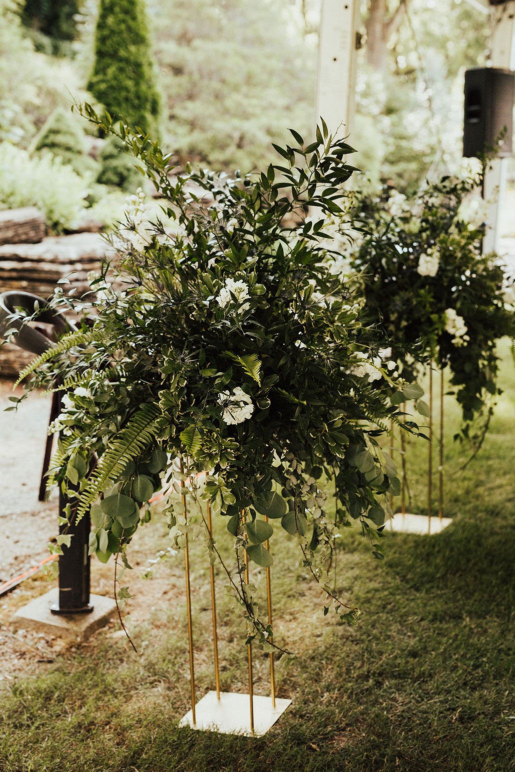 Boho Garden Wedding Ceremony Altar