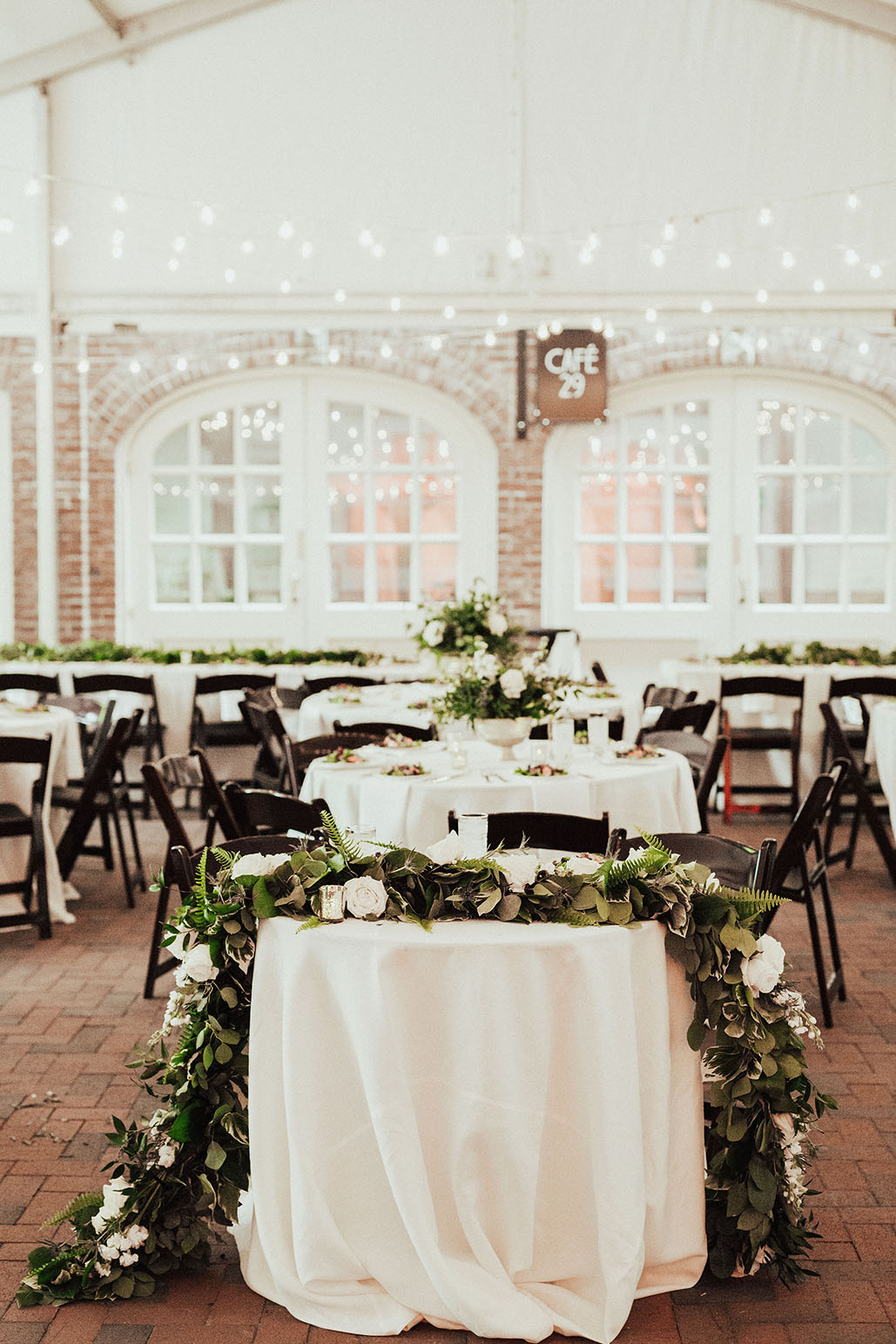 Boho Garden Wedding Reception Setup
