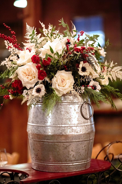 Classic Holiday Floral Arrangement