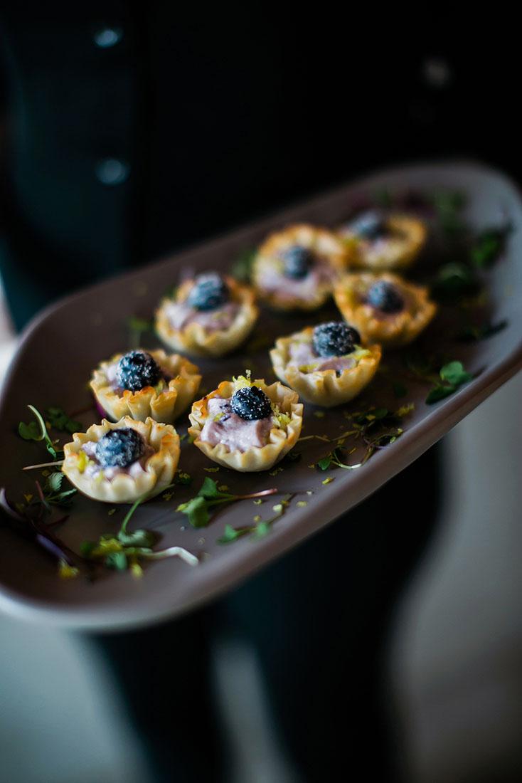 Balsamic Blueberry Bites