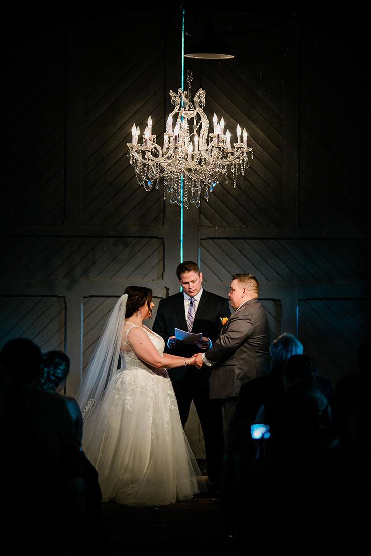 Laura and Matt during Wedding Ceremony