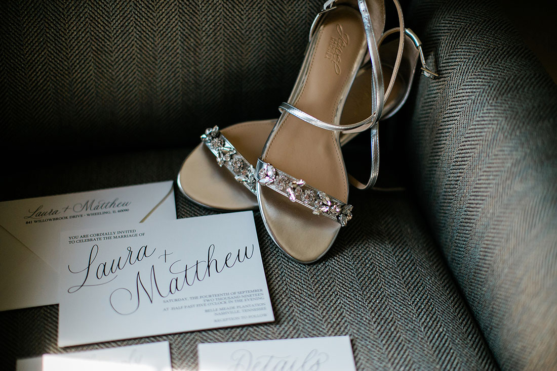 Wedding Invitation Suite and Bridal Shoes