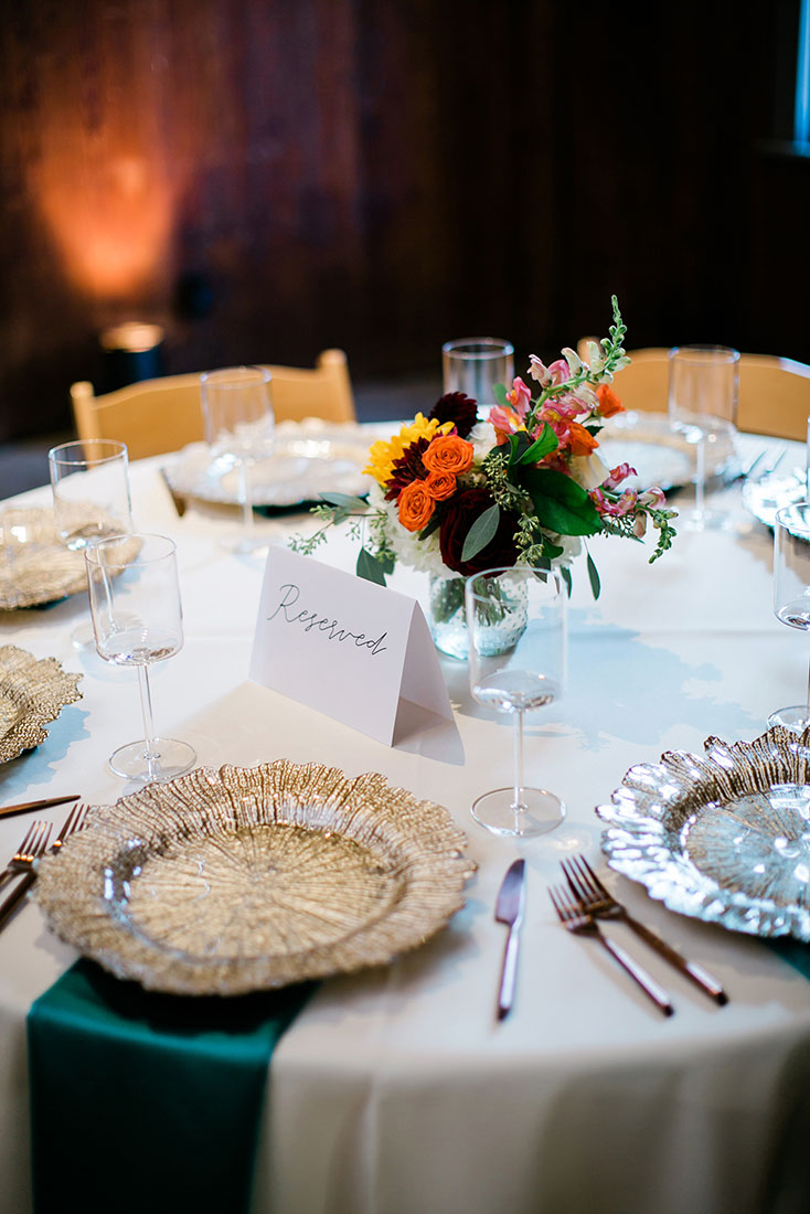 Bright Southern Wedding Table Setting