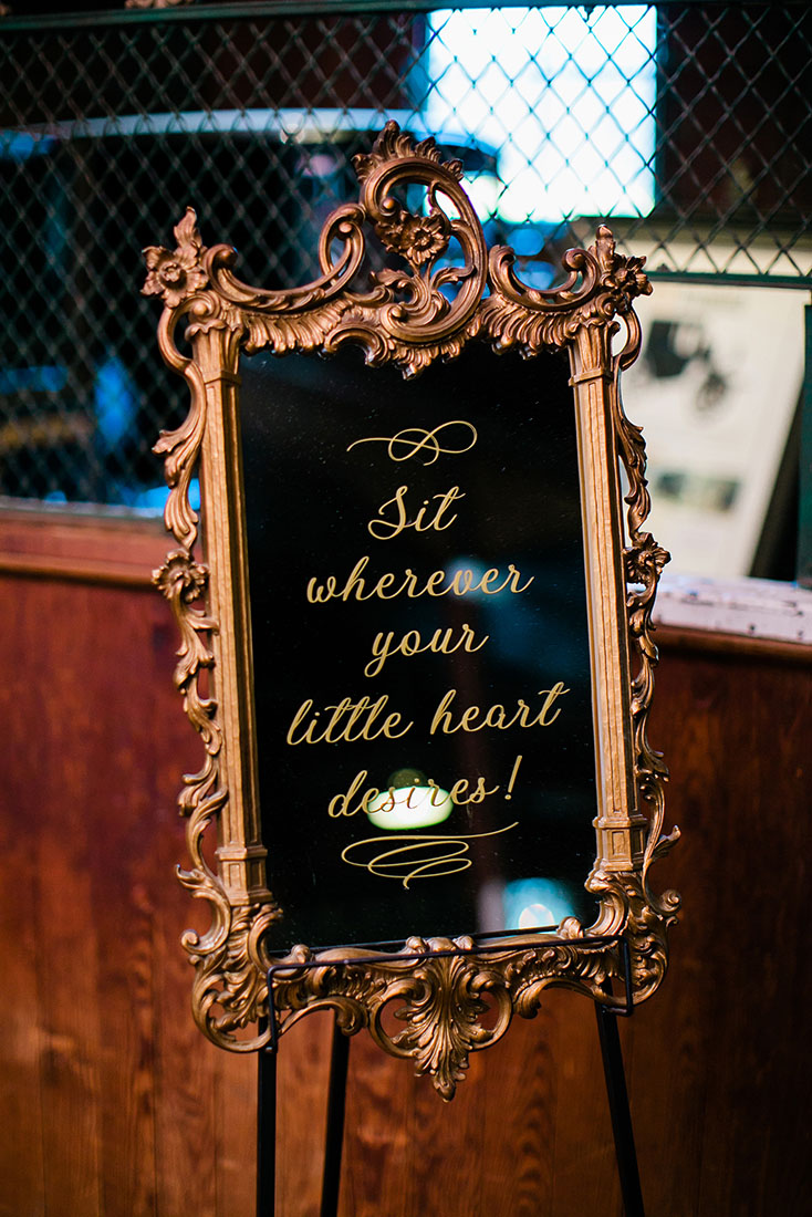 Open Seating Mirror Sign