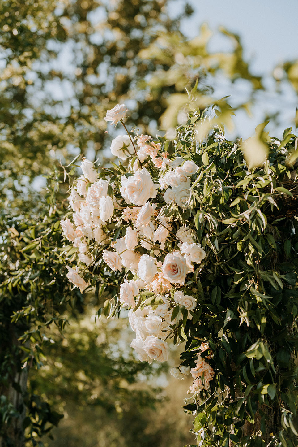 Wedding Ceremony Arbor Florals