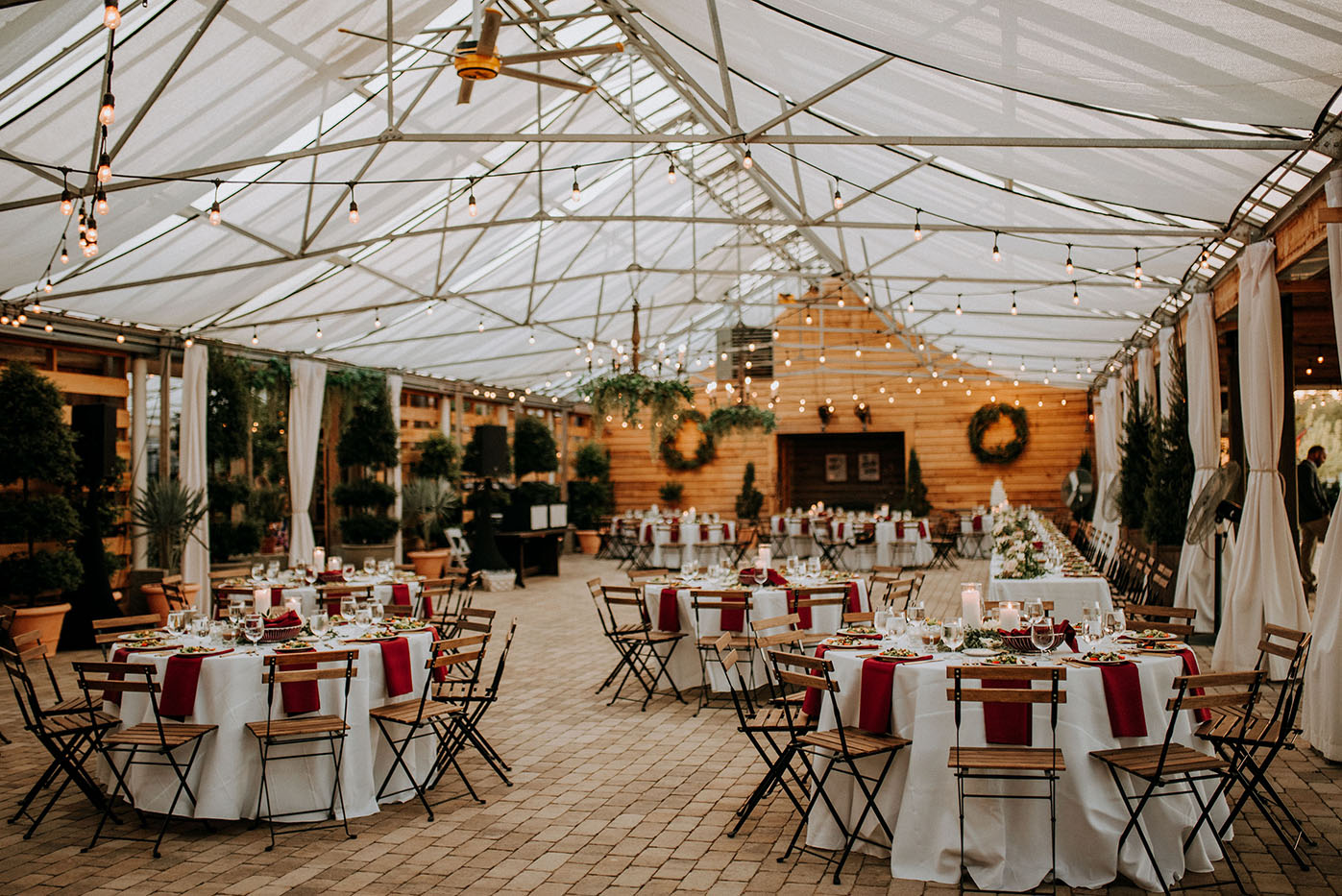 Warm Rustic Wedding Reception