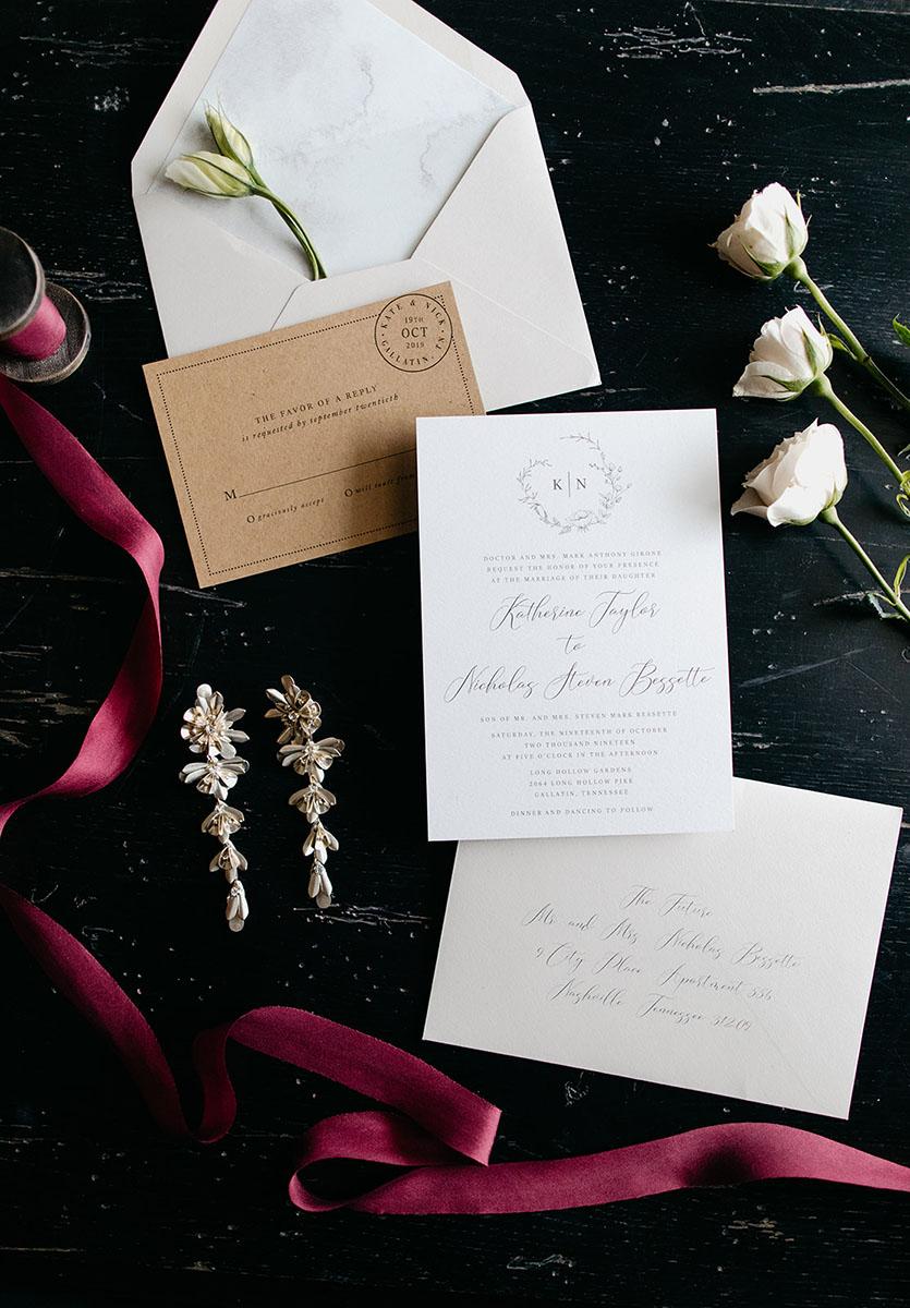 Elegant Wedding Invitation Suite