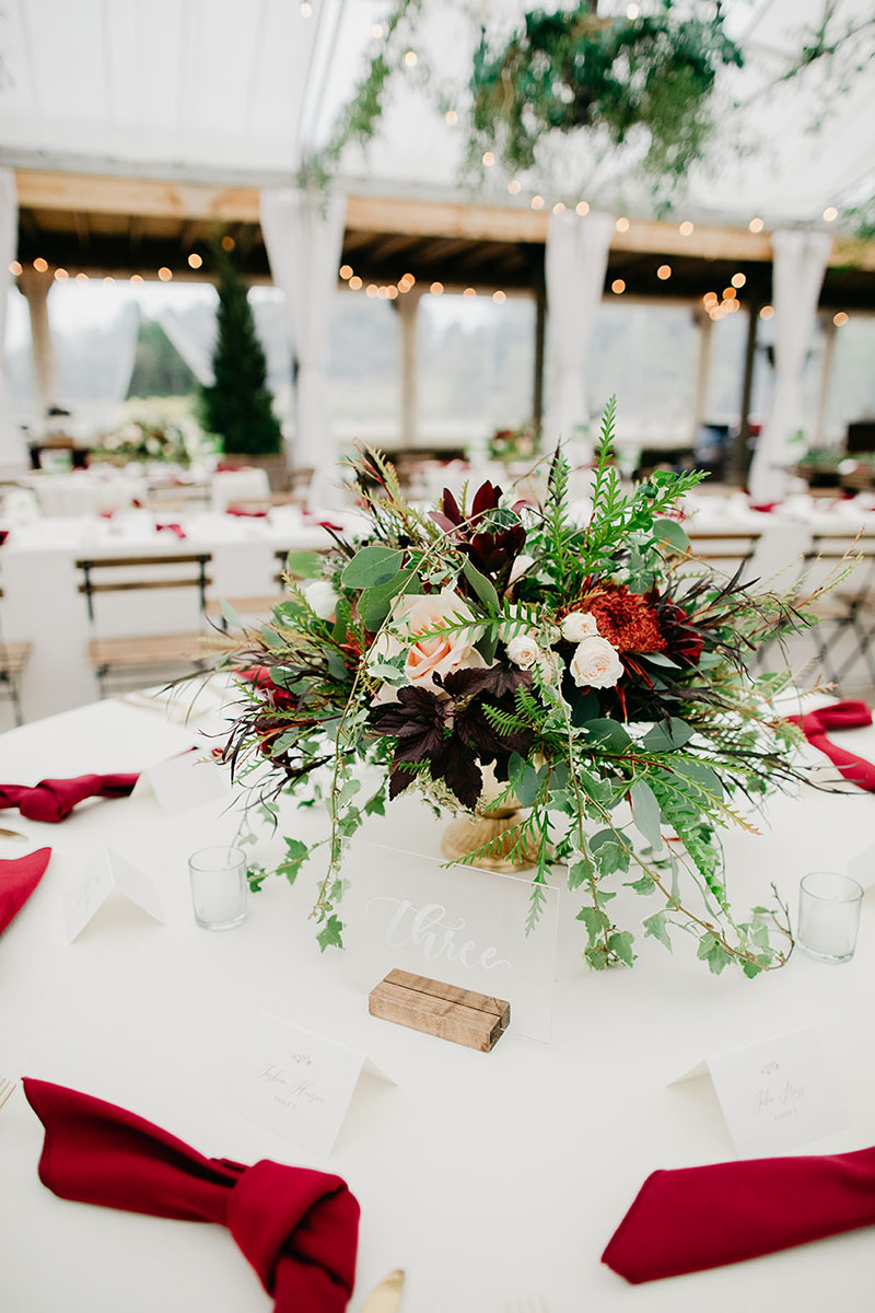 Elegant Rustic Wedding Centerpiece
