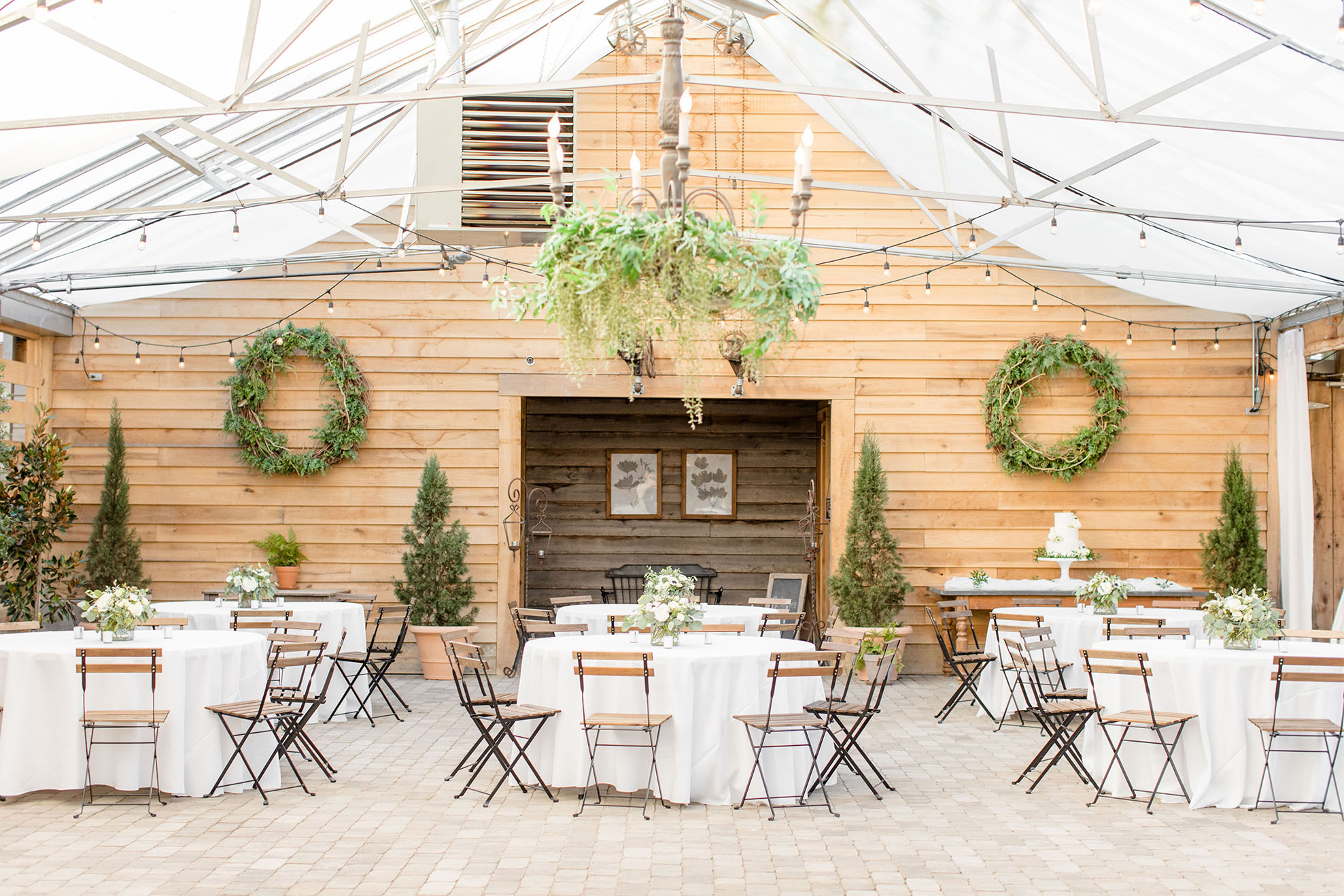 Intimate Fall Wedding Reception