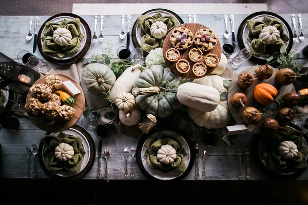 Fall Tablescape With Desserts