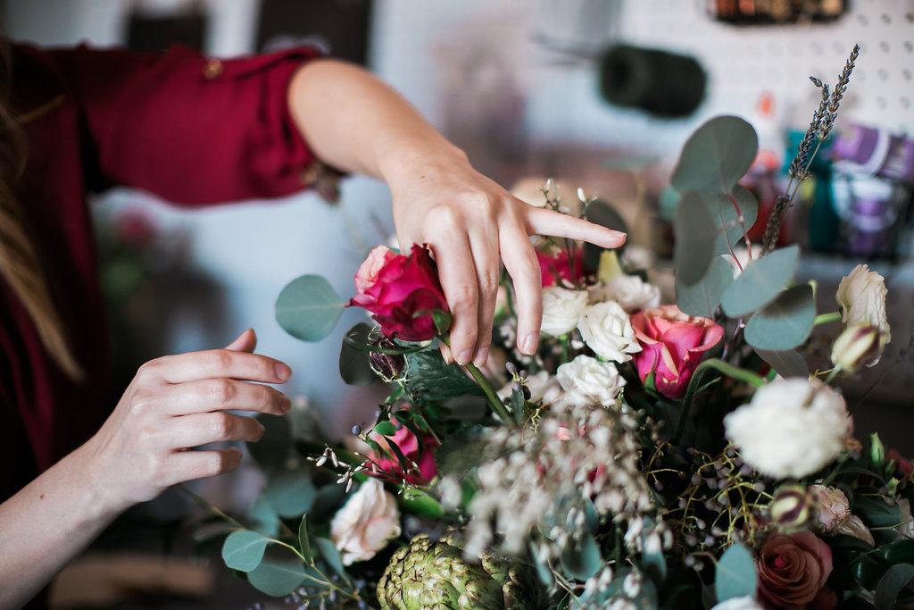 Dream Team Member Creating a Flower Arrangement